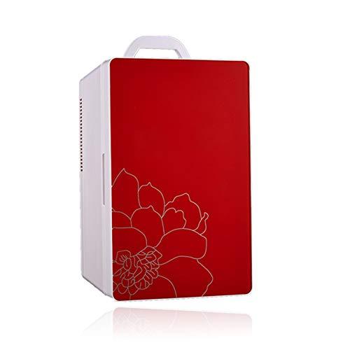 Tragbarer kleiner Kühlschrank mit Gefrierfach Typ 16L, fahrzeugmontierter Haushaltskühler und wärmerer Kühl- und Heizungs-Gefrierschrank für zwei Zwecke zur Aufbewahrung von Kosmetika / Muttermilch