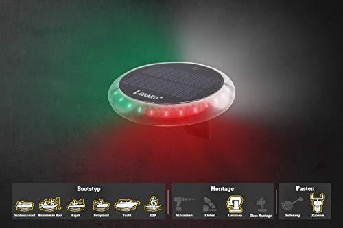 Fasten Lonako LED Positionslicht Boote eingebauter Akku, 3 Farben Rot Grün Weiß, Lc003:Lc003