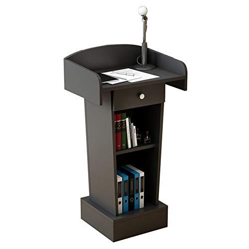 JRPT Dichtebrett Welcome Desk,Rednerpult (Mit/Ohne) Schubladen,Stall (Mit Verkleidungen Und Regale) Einfache Montage/Schwarz / A110×60cm