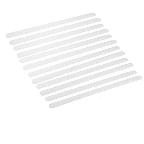 Cinta antideslizante de seguridad, cinta adhesiva antideslizante de 12 bandas Tiras antideslizantes transparente Sin huella Escaleras de baño antideslizantes invisibles que protegen a los ancianos