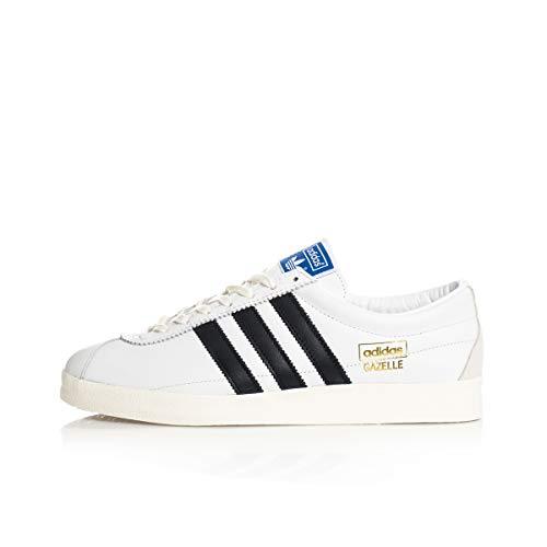 adidas Originals Gazelle Vintage, Footwear White-Core Black-Gold Metallic, 7