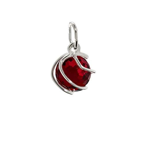 Pendente con sfera NKlaus Sphere 925 Sfera in argento 925 Sintetizzatore in argento sterling. rosso granato 7mm ladies 7863