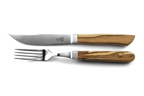 Paul Adrian Solingen Steakbesteck 12tlg. Steak Messer Gabel Grillbesteck Pizzabesteck Set Eisbuche