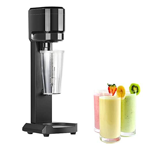 BLLJQ Stainless Steel Milkshake Machine, Ice Cream Blender with 2 Cup, 280W, Micro Switch, Two-Speed Adjustment Drink Mixer Machine for Stir The Milkshake, Milk Cap, Ice Cream