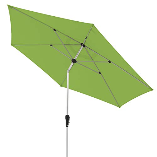 doppler Aluminium Sonnenschirm SL-AZ 330 - Knickbarer Sonnenschutz für Balkon oder Terrasse - ca. 330 cm - Fresh Green