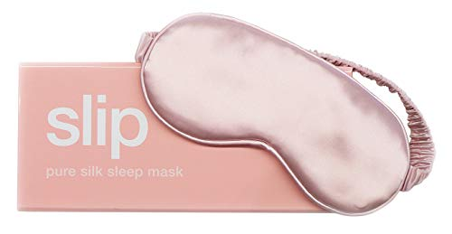 Slip Pure Silk Sleep Mask, Pink - Pure Mulberry 22 Momme Silk Eye Mask, Soft & Comfortable Sleeping Mask - Made with 'Anti-Aging Anti-Sleep Crease Anti-Bed Head' Slipsilk