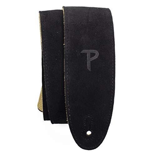 Perri's Leathers Ltd. - Correa de guitarra - Ajustable - Acolchado de Piel de Oveja - Negro - Fabricada en Canadá (BBS-202)