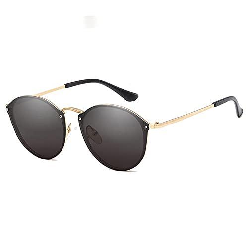 YOUMIYH Gafas de Sol Redondas Moda Moda Gato Gato Damas Metal Gafas de Sol Retro Conducción Masculinas Gafas Black Pink Glasses UV400 (Color : A)