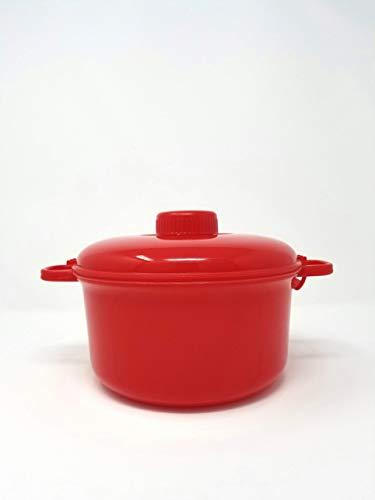 Handy Gourmet Micromaster Schnellkochtopf – Kochen Sie herzhafte Mahlzeiten in Minuten – 2 1/2 Quart Kapazität – Vielzahl von Farben – Rezeptbroschüre und Messbecher enthalten (rot)