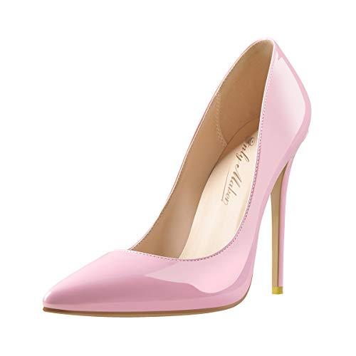 Only maker High Heels Stilettos Damen Klassische Pumps Elegant Damenschuhe Pink 46 EU