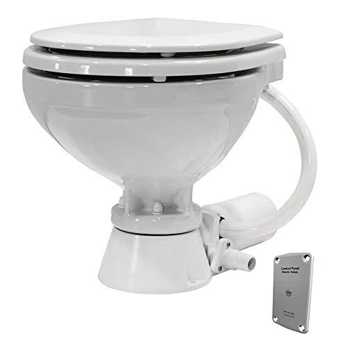 Johnson Pumps 80-47435-01 AquaT Compact Standard Electric Marine Toilet, 12V