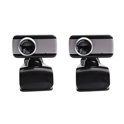 LOVIVER 2x 480P Video Webcam Built-in Mic USB Clip Style Camera for Computer