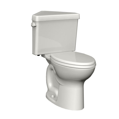 American Standard 270AD001.020 Cadet 3 Right Height Elongated Two-Piece Triangle Toilet with 12-Inch Rough-In, White