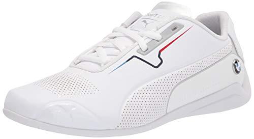 PUMA Men's BMW MMS Drift CAT 8 Sneaker, White White, 4.5