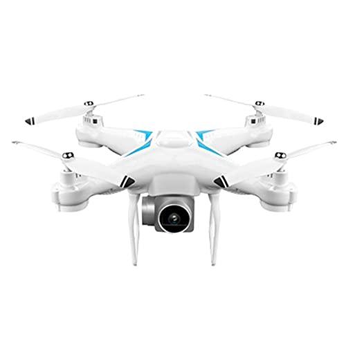 FMHCTN Drone a Quattro Assi Aereo per Fotografia Aerea in Tempo Reale 4K Aereo telecomandato ad Altezza Fissa Rotolo 3D con Luce modalità Senza Testa, Funzionamento Facile, Regali Argento