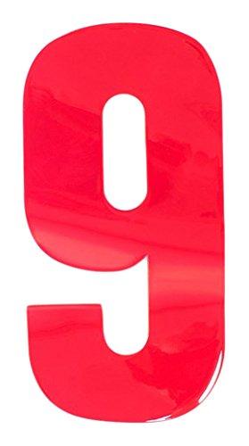 Bulk Hardware bh04984 autocollant haute visibilité réfléchissant Poubelle à roulettes numéro 9, 150 mm – rouge