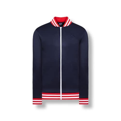 RB Leipzig Club - Chaqueta para hombre, color negro, azul, Tamaño de la cintura:90 cm