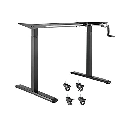 ApeJoy® höhenverstellbarer Schreibtisch/Computertisch, manuell höhenverstellbares Tischgestell, passt für alle gängigen Tischplatten, Standing Desk (Schwarz)