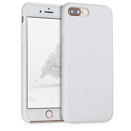 kwmobile Funda Compatible con Apple iPhone 7 Plus / 8 Plus - Carcasa de TPU para móvil - Cover Trasero en Blanco