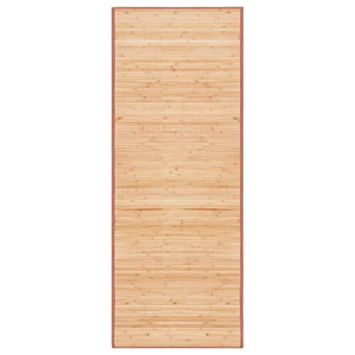 vidaXL Teppich Bambus 80x200cm Wohnzimmer Läufer Bambusmatte Bambusteppich