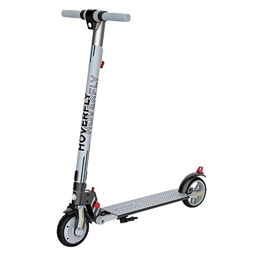 Elektro Scooter 200W, HOVERFLY Vibe Elektro Kinderroller, 6,5 Zoll Faltbarer Kickscooter für 8-15 Jahre Alt, 12 MPH & 7 Meilen(12km) Reichweite E-Scooter für Jugendliche, Jungen und Mädchen, bis 80kg