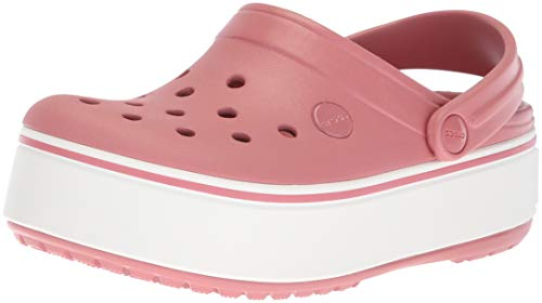 Crocs Crocband Platform Clog Blossom/White,7 US Men / 9 US Women