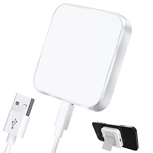 Hoidokly Magnetisk trådlös laddare med avtagbart stativ, 15 W snabb trådlös laddningsplatta kompatibel med iPhone 12/12 Pro/12 Pro MAX, iPhone SE 2020/11/11 Pro MAX/XS MAX/XR/X