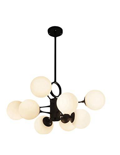 Hanglamp Nordic woonkamer woonkamer slaapkamer persoonlijkheid Amerikaanse stijl eenvoudige studio slaapkamer latte wit glazen bol bonen