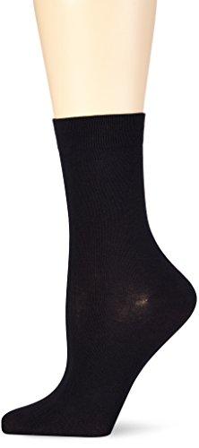 Nur Die Damen Feines BaumwollSöckchen Strick Socken, Schwarz (schwarz 940), 39/42