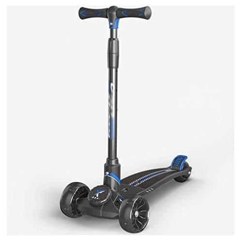 Dzwyc Scooter Pedal de Gran tamaño patear Scooter para niños - Altura Ajustable con Cubierta Extra de Ancho PU Ruedas Intermitentes Grandes niños Scooter y Scooters de niño Patinetes (Color : A)