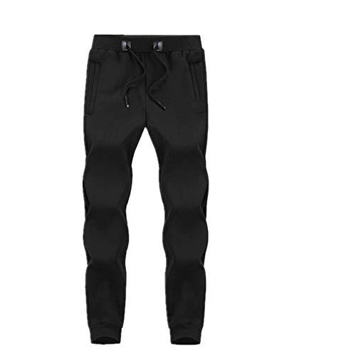 N\P Invierno Cálido De Lana Pantalones De Jogging De Los Hombres Casual Slim Fit Pantalones Espesar Masculino Ropa De Calle