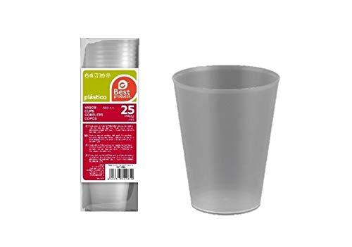 Caja de 500 Vasos de Plástico Duros Irrompibles 500ml, Reutilizables de Polipropileno