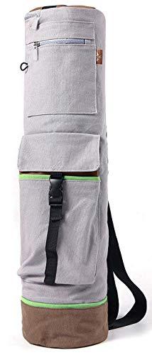 "Heathyoga Yoga Mat Bag Full-Zip Exercise Yoga Mat Carry Bag - Multi-Functional Inner/Outer Storage Pockets & Adjustable Shoulder Strap - 28"" X 7"" Yoga Bag Fits Most Yoga Mat Sizes"