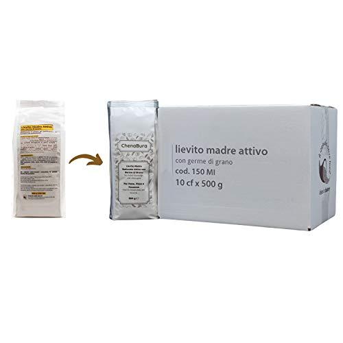 Lievito Madre Essiccato Attivo con Germe di Grano - Impasto Fragrante, Profumato e ad Alta digeribilità - ChenaBura (10 x 500 gr)