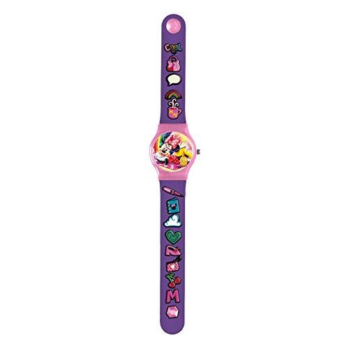 Minnie Mouse Analog-Armbanduhr, Gummi, für Erwachsene, Unisex, Mehrfarbig, Einheitsgröße