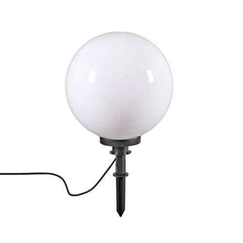 QAZQA Moderno Baliza moderna estaca 40cm IP44 - BOL Plástico Redonda/Esfera Adecuado...