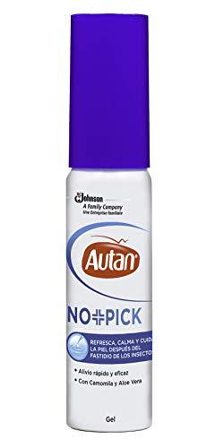 AUTAN No+Pick - Alivio Rápido y Eficaz después de las Picaduras de los Insectos, Refresca y Cuida la Piel con Camomila y Aloe Vera, formato Gel 25 ml