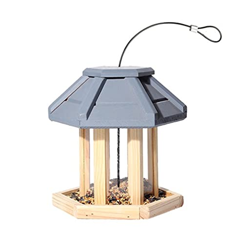 Alimentador De Aves Alimentadores De Aves Salvajes Gazebo Alimentadores De Pájaros Colgante Alimentador De Aves Alimentadores De Aves Para El Exterior Colgando Aves De Gran Capacidad BirdFeeders