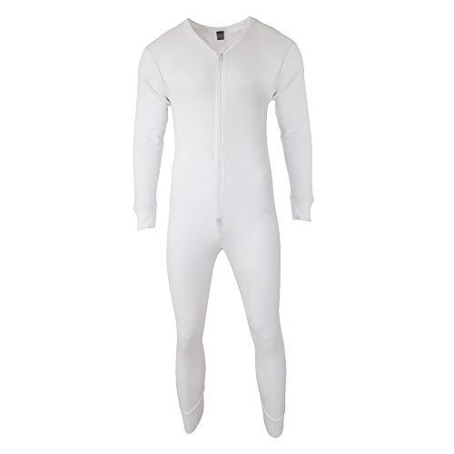 Floso - Combinaison pyjama thermique pour homme - Blanc - Large