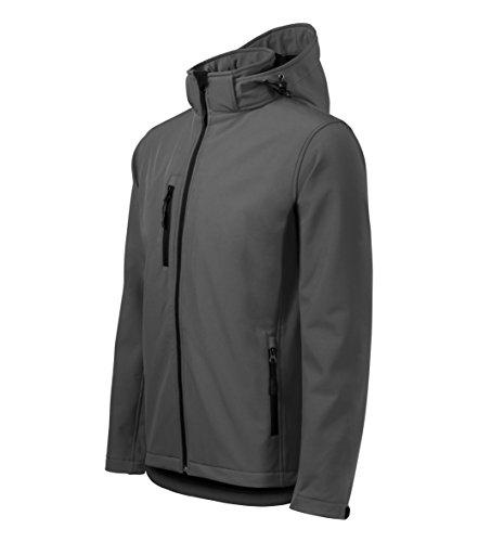 Veste Softshell d'extérieur hommes, multifonctions avec capuche, coupe-vent. M gris