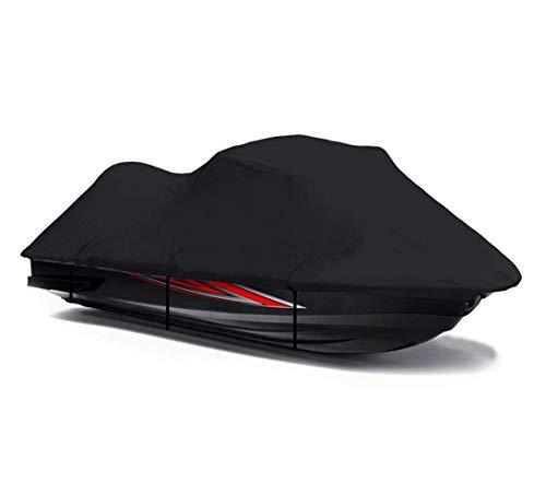 Black 600 Denier Jetski Cover for Tiger Shark 640 1998 1999 770 1997 1998 1999 Jet Ski PWC Cover 2 Seater 111'