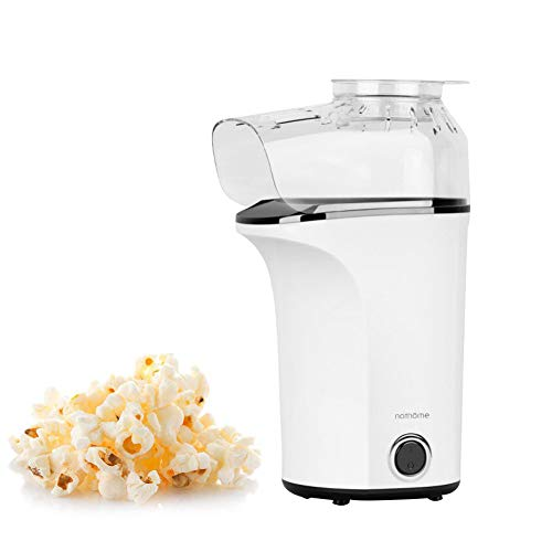 AZCSPFALB Automática Máquina de Palomitas con Gran Capacidad, 1400W Popcorn Maker con Capa Antiadherente, Aire Caliente, Sin Grasa y Saludable, Antideslizante Resistencia a Altas Temperaturas
