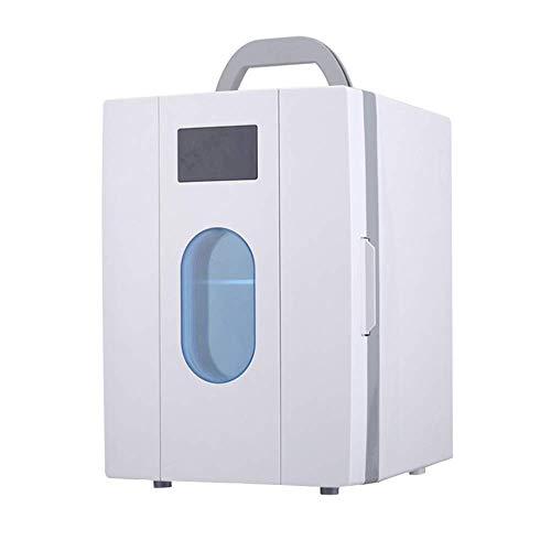 Auto Kühlschrank 10l thermoelektrischen Kühler, tragbare weiße Mini-Kühl- / Gefrierschrank, Heizung Box, geeignet for PKW, LKW und Steckdosen DC Strom Mini-Kühlschrank kshu