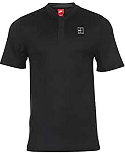 NIKE Nikecourt Polo Camiseta, Hombre, Negro (Black/Black/Black/White), XL