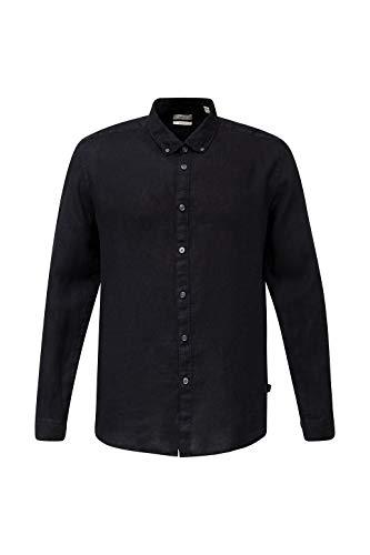 Esprit Herren 030EE2F302 Hemd, 001/BLACK, L