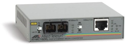 Allied Telesis 100TX to 100FX (SC) - Convertidor de Red (100 Mbit/s,...