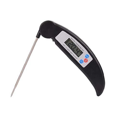 JRXyDfxn Folding Lebensmittel-Thermometer LCD-Anzeige Barbecue Thermometer Faltbare Fleischthermometer Grill BBQ Kochen Thermometer Home Küchenzubehör Schwarz