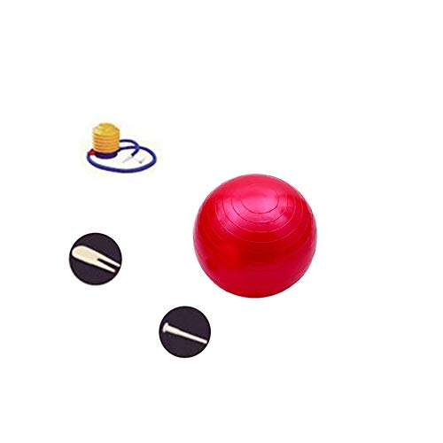 ZEVONDA Gymnastikball - Geburt Ball Gegen Brust und Extra Dicken Gymnastikball für Yoga, Pilates, Fitness, Rot, 95CM