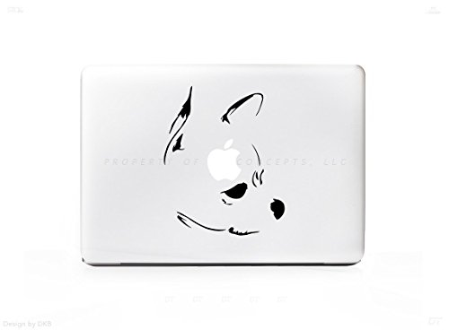 Minimal Chihuahua Dog Sticker Decal For MacBook Pro, PC, Laptop, Window, Car, or Wall