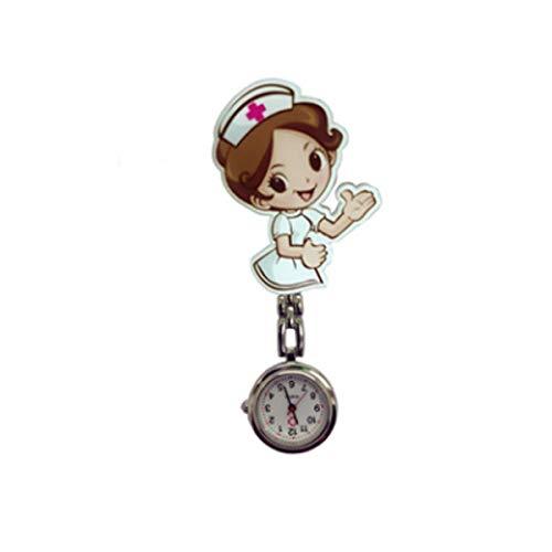 Greatangle-UK Linda Mesa de Enfermera Harajuku, Cuidado médico, Reloj de Pared Universal, Reloj de Bolsillo en el Pecho, electrochapa PNP 2297